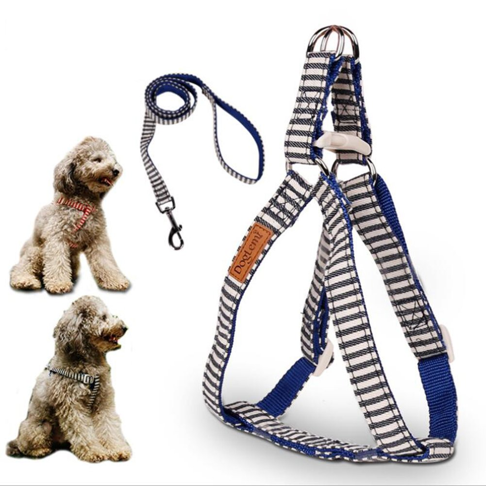bluee Small bluee Small Dog Harness Breathable Soft Air Mesh Puppy Dog Vest Harness Adjustable Refletive Dog Harness Outdoor with Handle Easy Control VH-82460