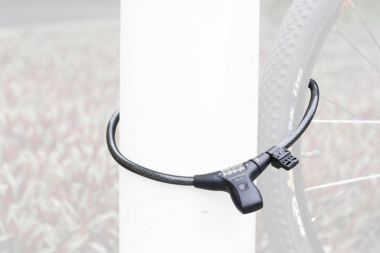 CycleBeam LED Illuminated Combination Bike Lock Best Bike Lock for Night Riders IBL-12 TM