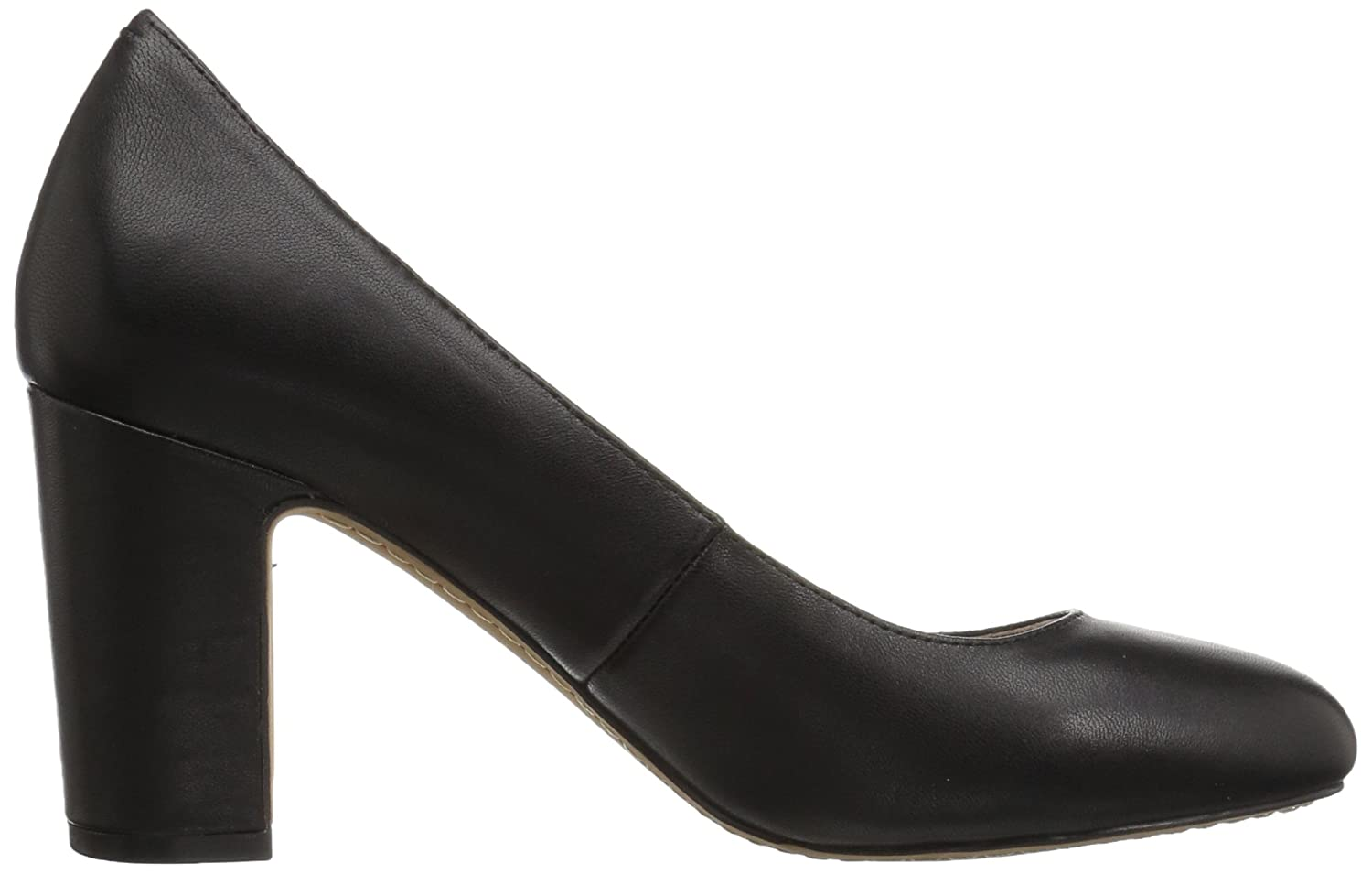 206 Collective Women's Coyle Round Toe Block Heel High Pump B0789FHVZ1 11.5 C/D US|Black Leather