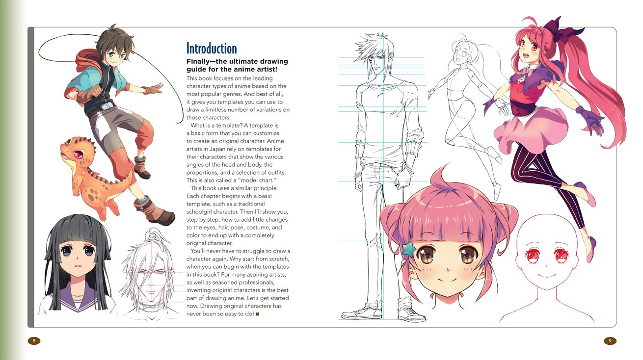 The master guide to drawing anime how to draw original characters from simple templates christopher hart 0787721927549 amazon com books
