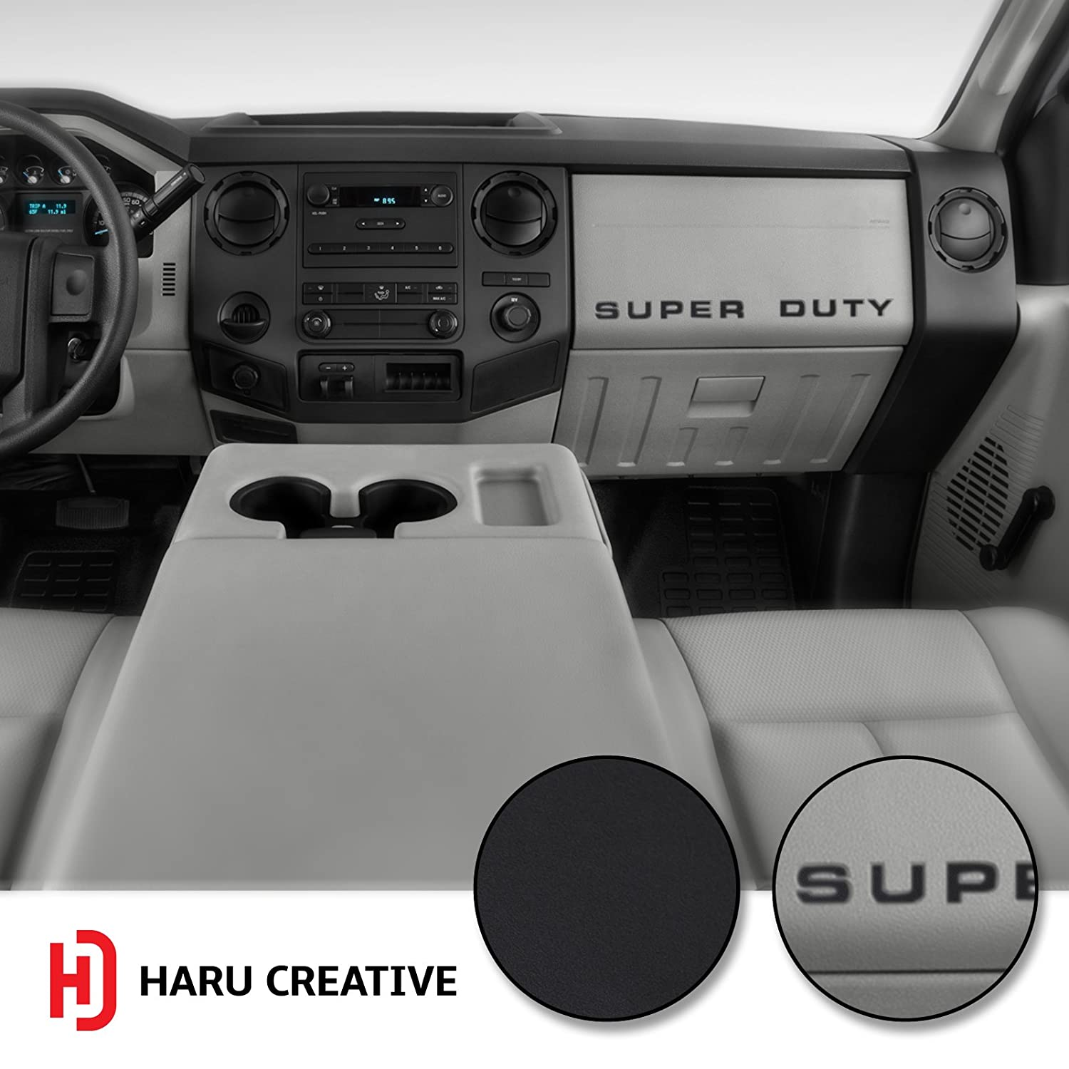 Dashboard Glove Box Letter Insert Overlay Vinyl Decal Sticker Compatible with and Fits Ford Super Duty F250 F350 F450 - Matte Red Haru Creative 2008-2016