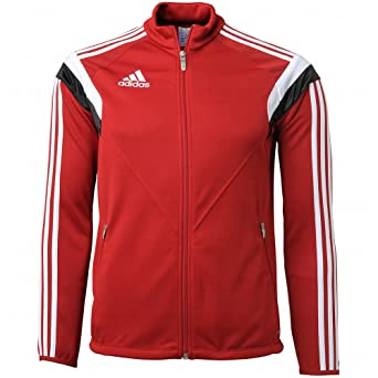 78b36e836627 Adidas Condivo 14 Youth Training Jacket YS Power Red-White-Black   Amazon.ca  Clothing   Accessories
