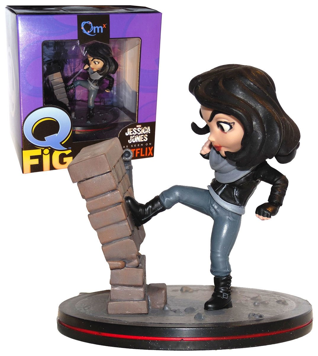 Quantum Mechanix Marvels Jessica Jones as seen on Netflix Qmx Q-Fig Action Figure Loot Crate Exclusive April 2017 Abysse Corp/_FIGQMX020