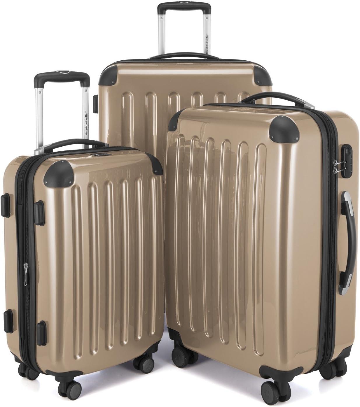 HAUPTSTADTKOFFER 82782028 Juego de 3 maletas, color Champán beige