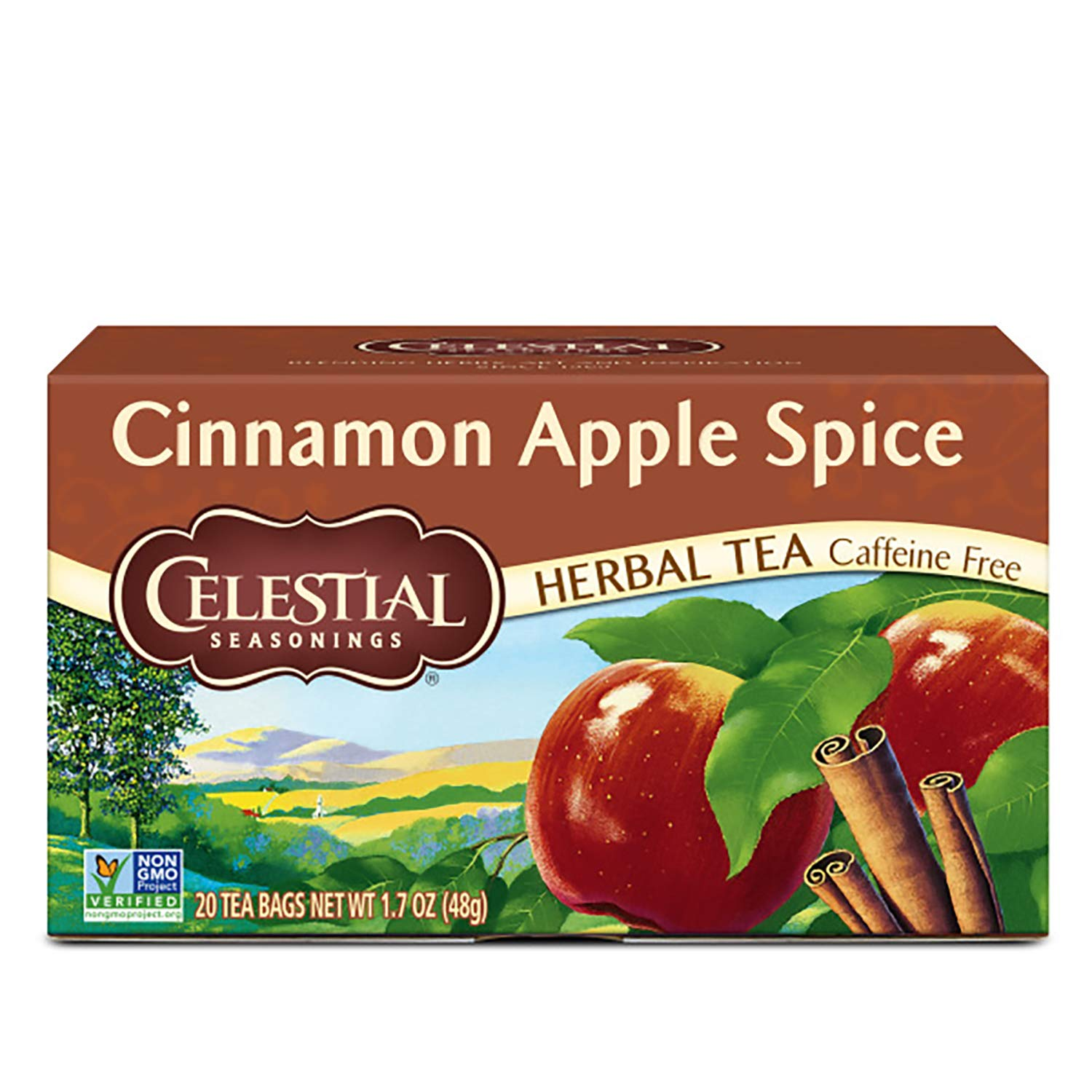 Celestial Seasonings Herbal Tea, Cinnamon Apple Spice, 20 Count