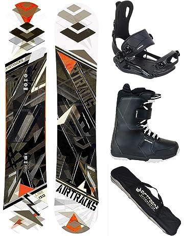 6ba3e182 AIRTRACKS Snowboard Set (Paquete Completo) Tabla Line Wide Rocker  (Hombre)+Fijaciones