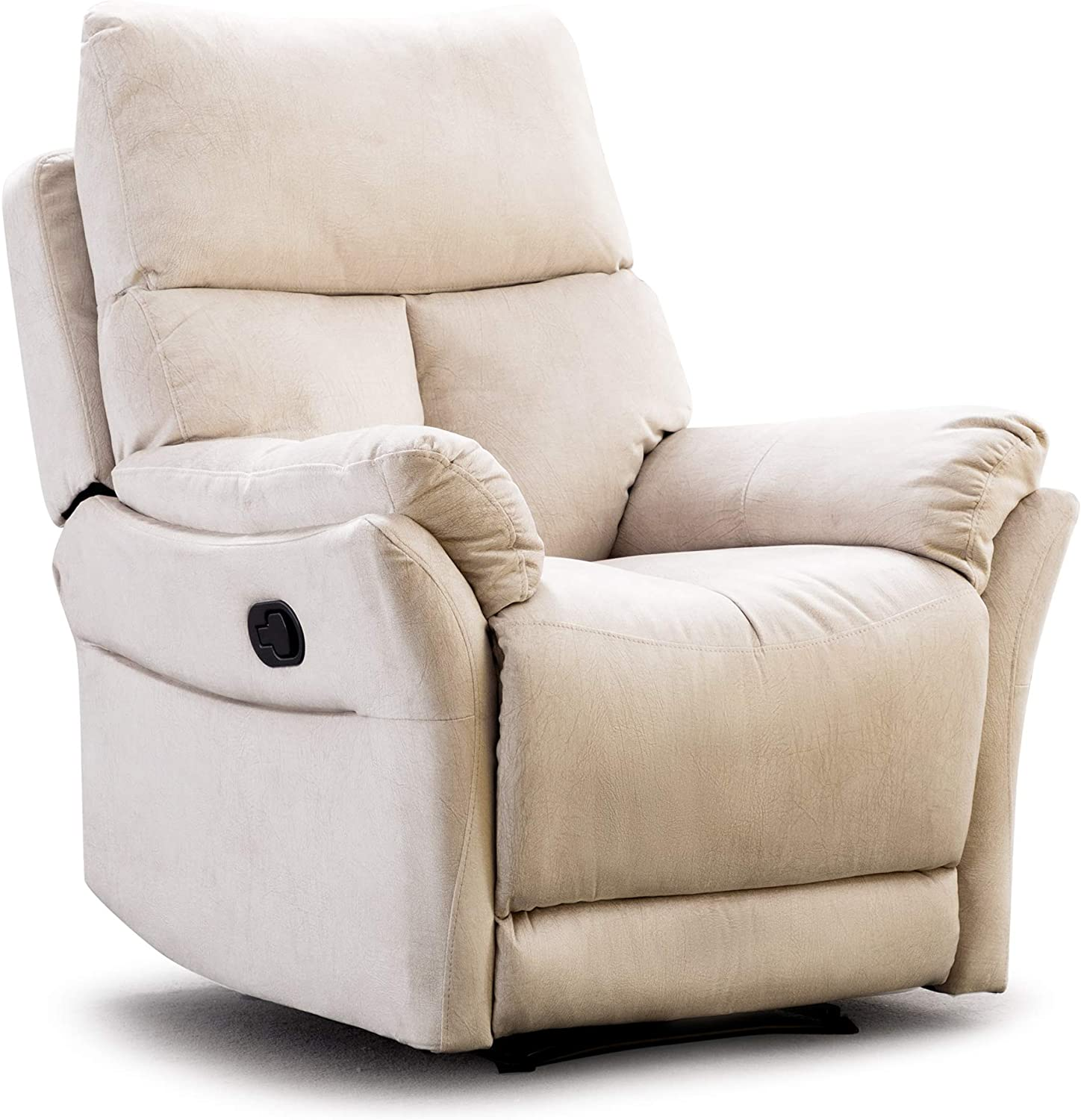 Merax Recliner Chair Lazy Sofa, Manual Ergonomic Design with Overstuffed Armrest, Footrest and Back for Living Room, Beige