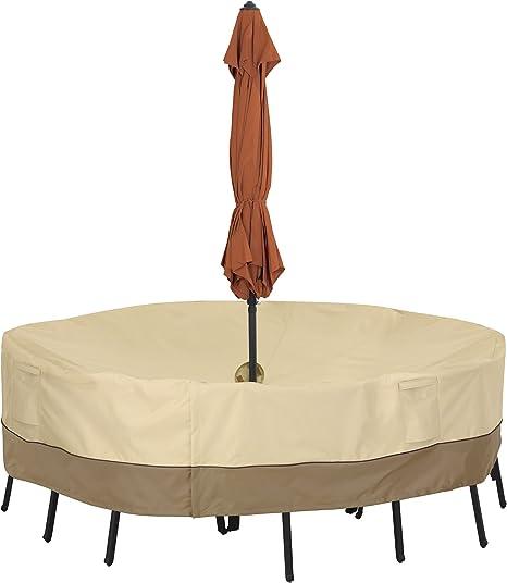 Jardinage Heavy Duty ronde Patio Table Cover-UV Traitée