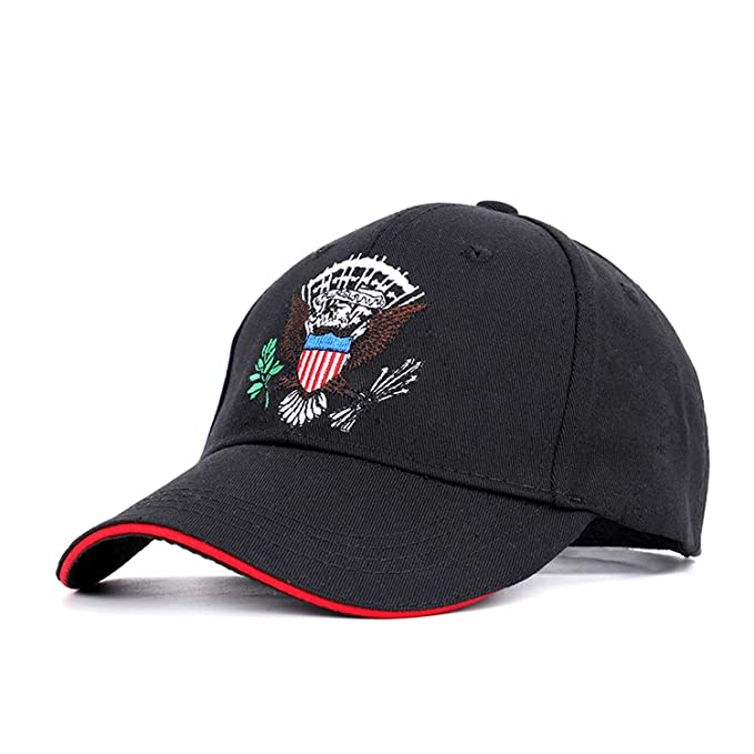 f7ee283a736 2019 New Eagle Embroidery Baseball Cap Hip Hop Hat Spring Man Woman Cotton  USA Badge Caps