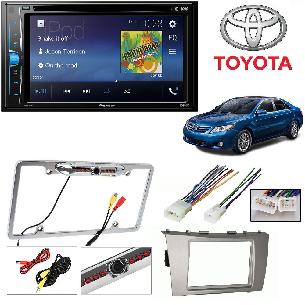 Pioneer AVH-200EX 2-Din 6.2'' DVD/CD/iPhone/Android/Bluetooth + TOYOTA CAMRY 2007 2008 2009 2010 2011 CAR STEREO RADIO CD PLAYER RECEIVER INSTALL MOUNTING KIT WIRE HARNESS