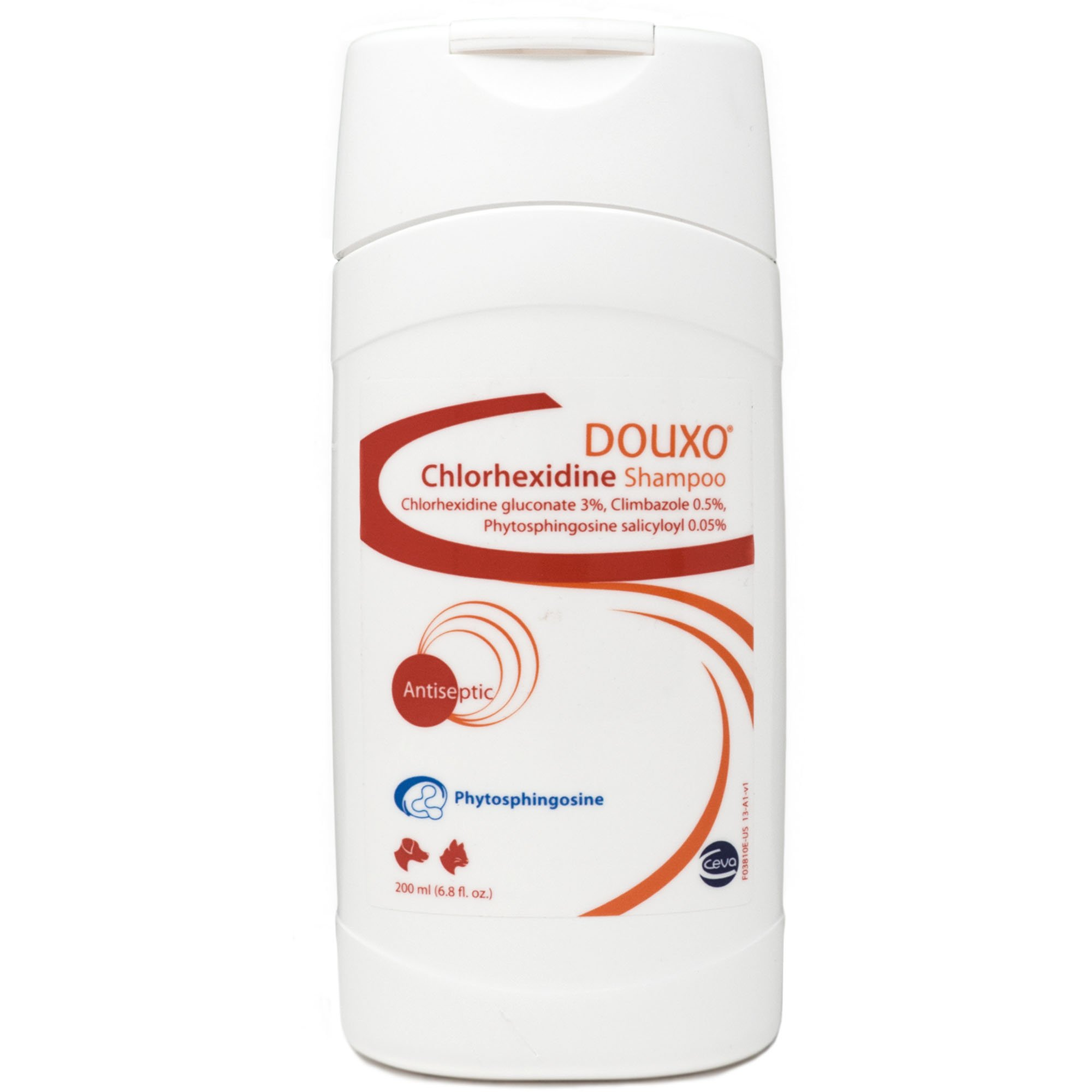 Douxo (Sogeval) Chlorhexidine Shampoo for Dogs & Cats (200 ml) - Topical Solution for Skin Infections by Sogeval Douxo