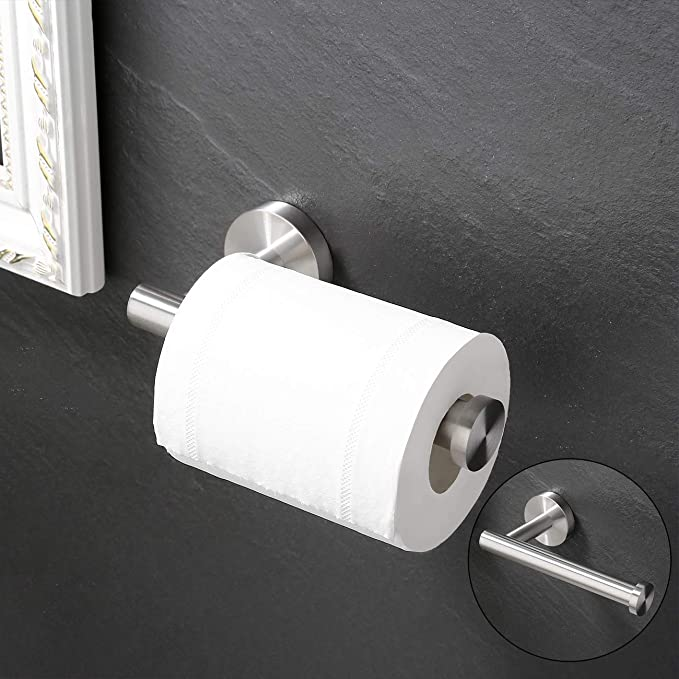 Brand Umi Toilettenpapierhalter Stehend Klopapierhaltter Klorollenhalter Edelstahl SUS304 WC Papier Halterung Rollenhalter Papierhalter Toilettenpapier Aufbewahrung Geb/ürstet BPS200S80-2