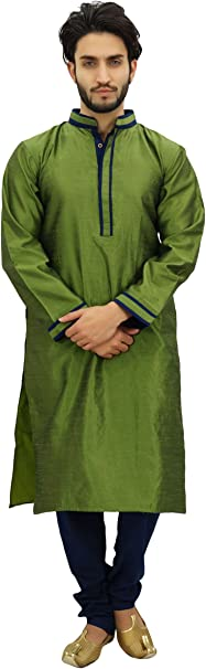 Atasi Conjunto Pijama Kurta de para Hombre. Camisa etnica ...