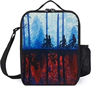 Portable Thermal Insulated Picnic Lunch Bag,Cool Things To Paint Cool Your Boyfriend Stranger Food Handbag Lunch Box With Shoulder Strap For Hot Or Cold Groceries