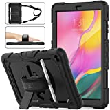 SEYMAC Stock Samsung Galaxy Tab A 10.1 T510/T515 Case 2019, Three Layer Hybrid Drop Protection Case with [360 Rotating…