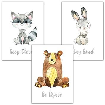 89956fe330fd73 Frechdax® 3er Set Kinderzimmer Babyzimmer Poster Bilder DIN A4 ...