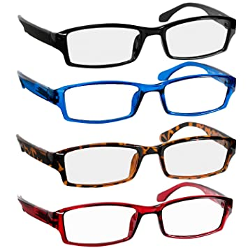 224aa7d64649 Reading Glasses 1.75 Black Tortoise Red Blue Readers for Men   Women - Spring  Arms