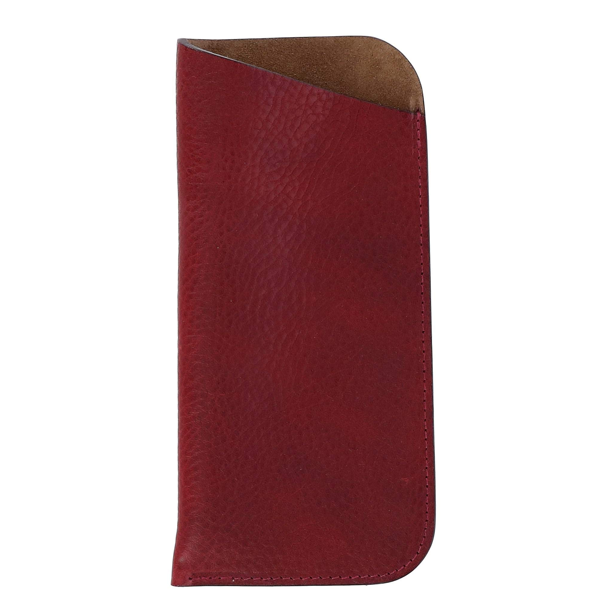 The British Belt Company Italian Leather Slip Glasses Case with Suede Lining by The British Belt Co.