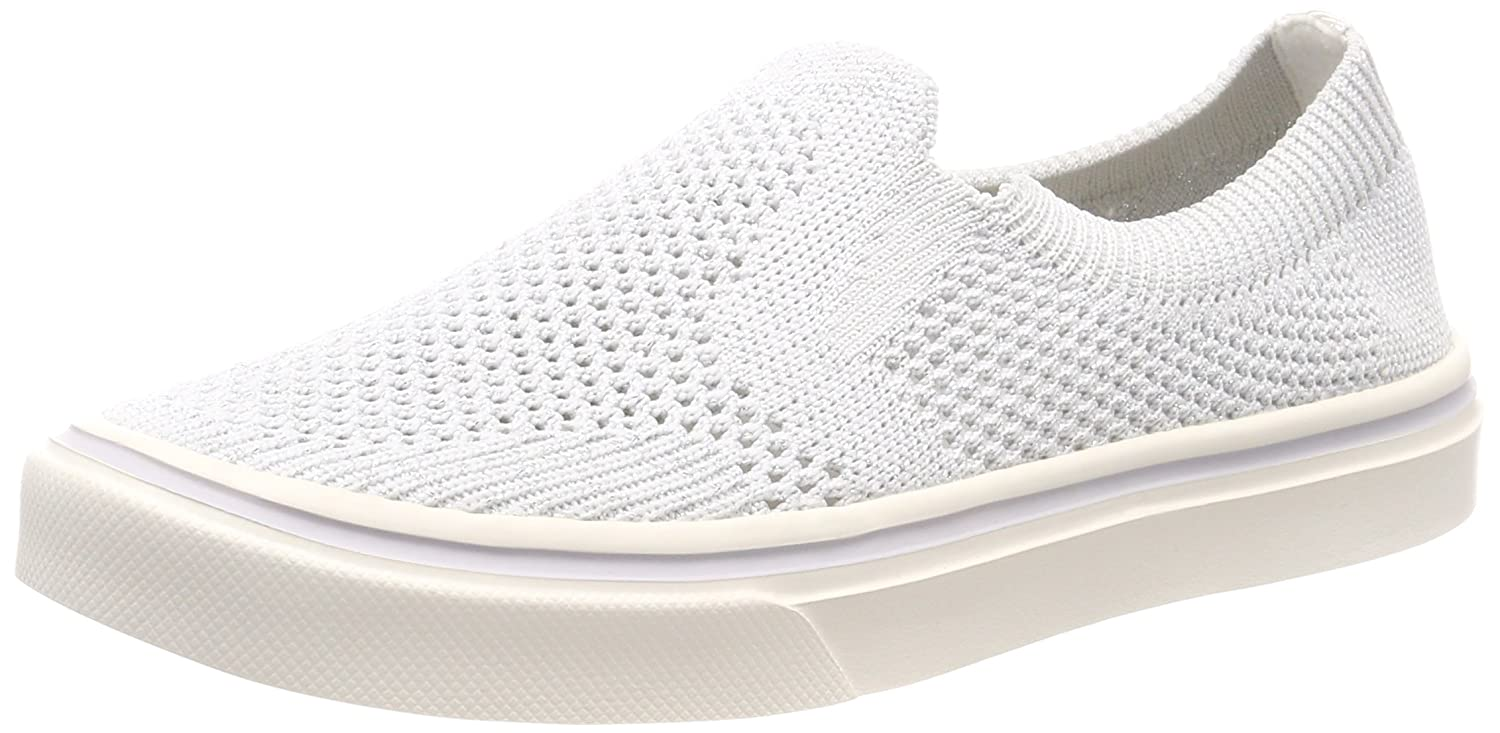 Tommy Hilfiger Knitted Light Weight Slip On, Zapatillas para Mujer 36 EU|Blanco (White 100)