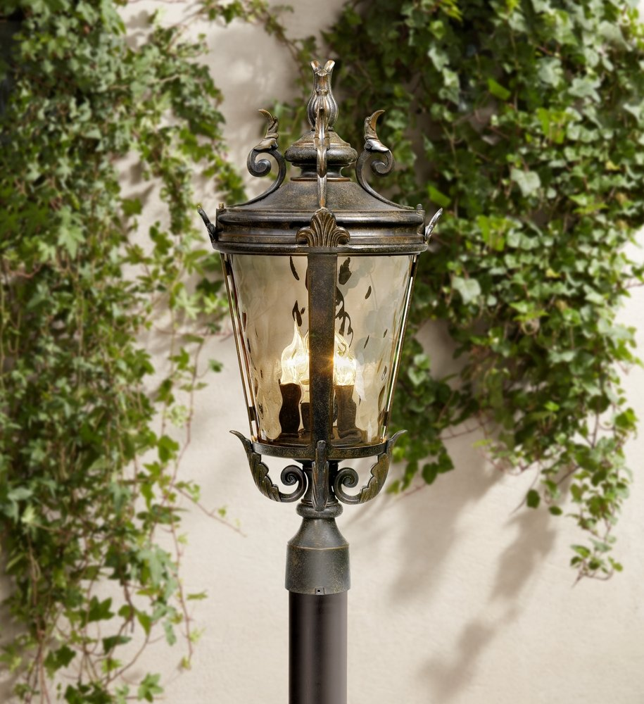 outdoor post lights white casa marseille collection 25