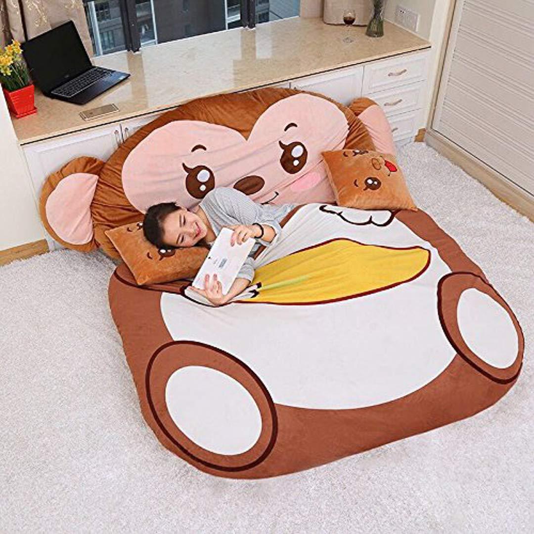 Totoro Materasso 130x 190cm di Soft Épaissir Fumetto, Tatami Dormitory Materasso Cartoni Animati Ispessimento Divano Letto Super Morbido Letto a Pelo RPC