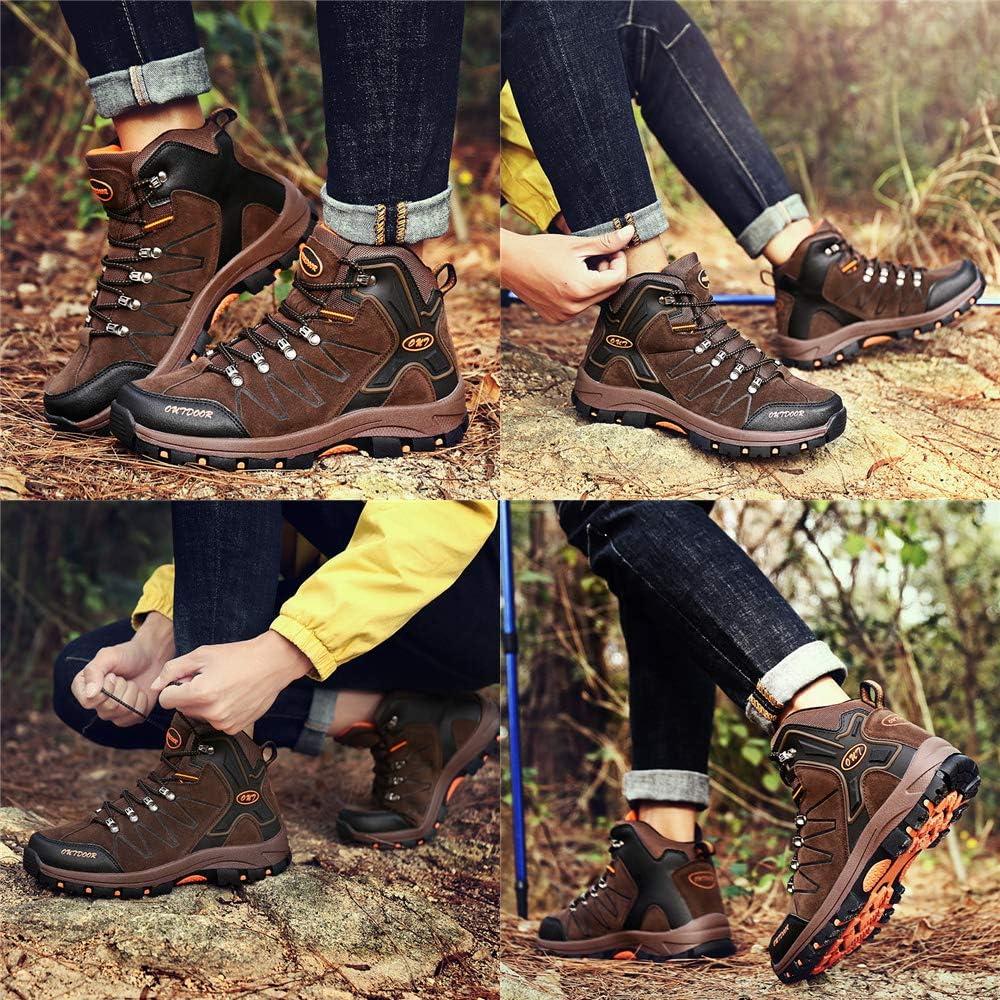 Ikeyo Chaussures de Randonn/ée Homme Chaussures de Marche Imperm/éable Hautes Bottes de descalade Montantes Trekking Promenades Sports