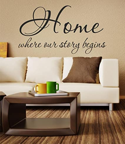 Home Is Where Our Story Begins Quote Vinyl Wall Decal 28u0026quot; W By 15u0026quot;
