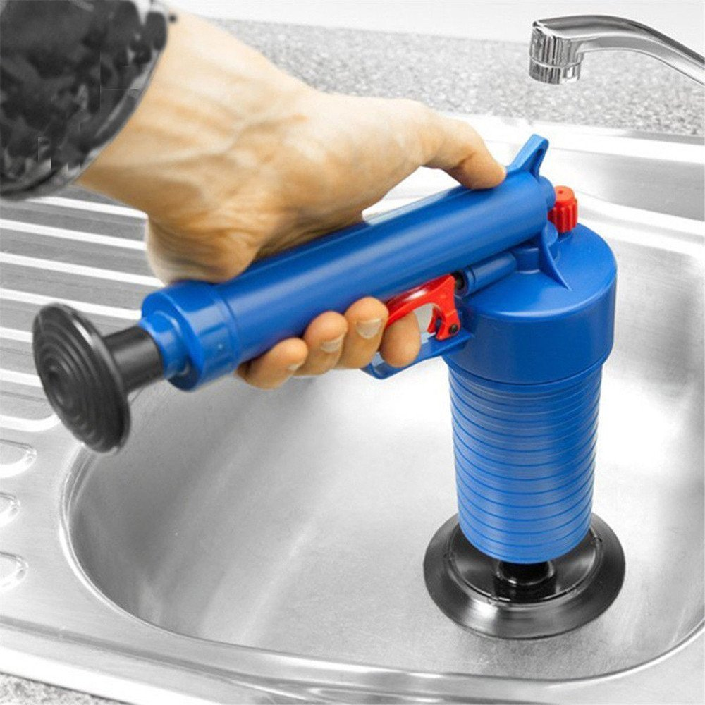 Dressffe Air Power Drain Blaster gun, High Pressure Powerful Manual sink Plunger Opener cleaner pump for Bath Toilets, Bathroom, Shower, kitchen Clogged Pipe Bathtub by Dressffe