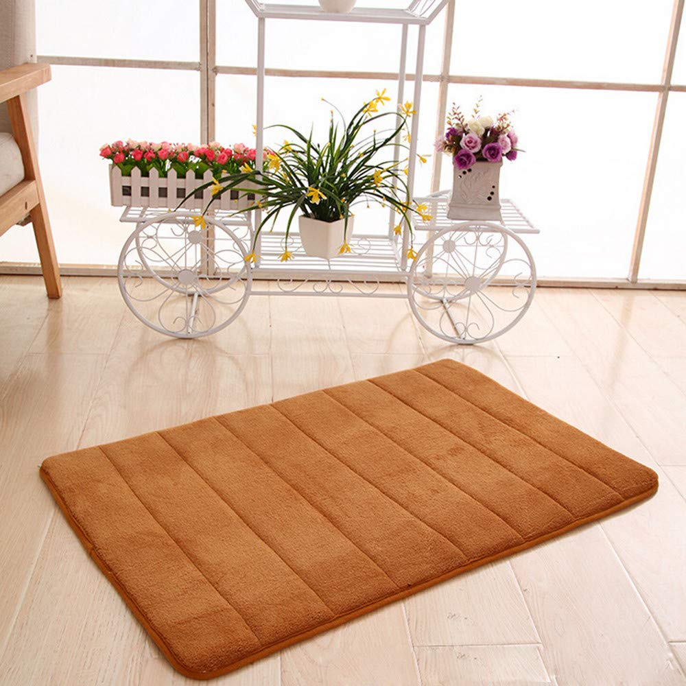 PK RICH-Po Memory Foam Mat Blanket Absorbent Slip-resistant Pad Area Rug Living Room Bedroom Study Soft Carpet Floor Mat Home Decor Play Mat Bathroom Carpet 16x23 Inches
