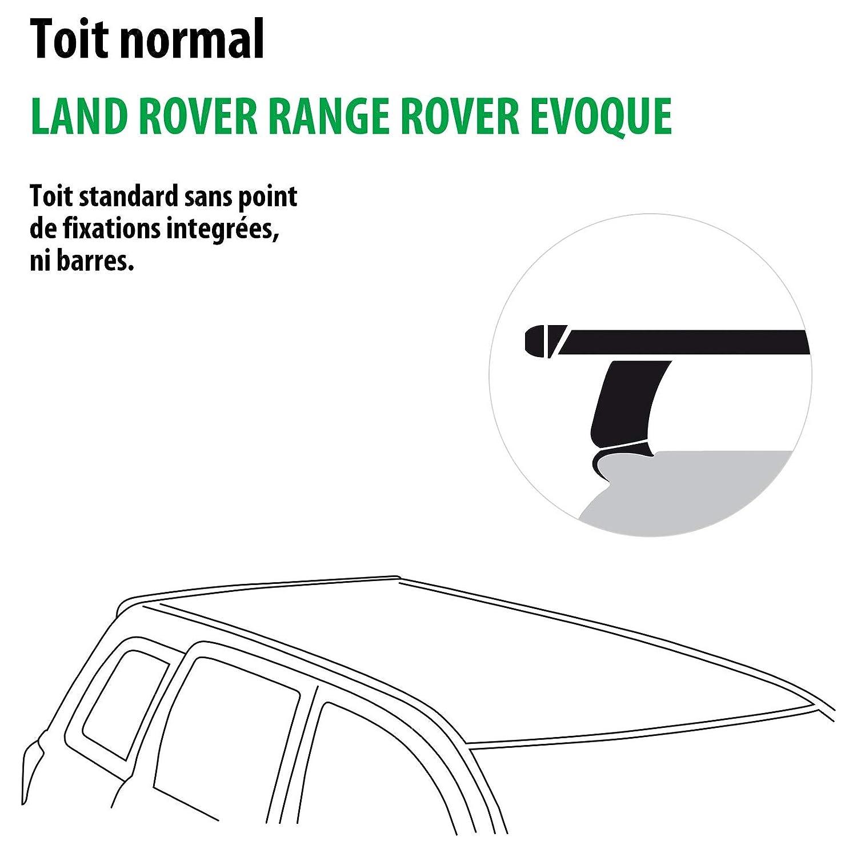 114691-09576-1-FR Rameder Pack Barres de Toit WingBar Evo pour Land Rover Range Rover EVOQUE