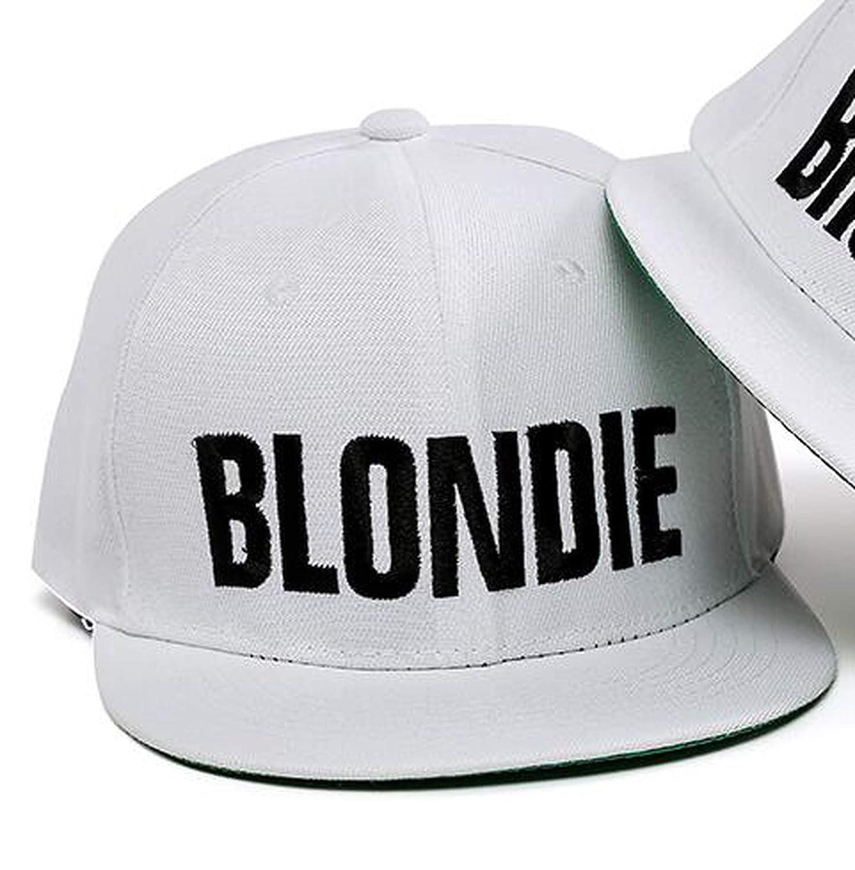 Dreamstar Women Snapback Caps Embroidery Flat Edge Baseball Hat Brownie Blondie White Girlfriends