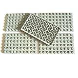 LEGO Bricks 3033 City - Planchas (6 x 10 pivotes, 5 unidades), color gris claro