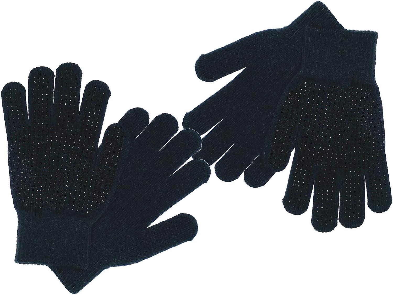 Socksmad 2 Pair Black Kids Unisex Warm Magic Gripper Gloves