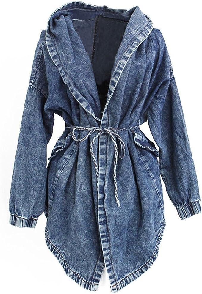 Très Chic Mailanda Damen Parka Trenchcoat Jeansjacke Kapuzen Pullover Mantel Outerwear Jacket