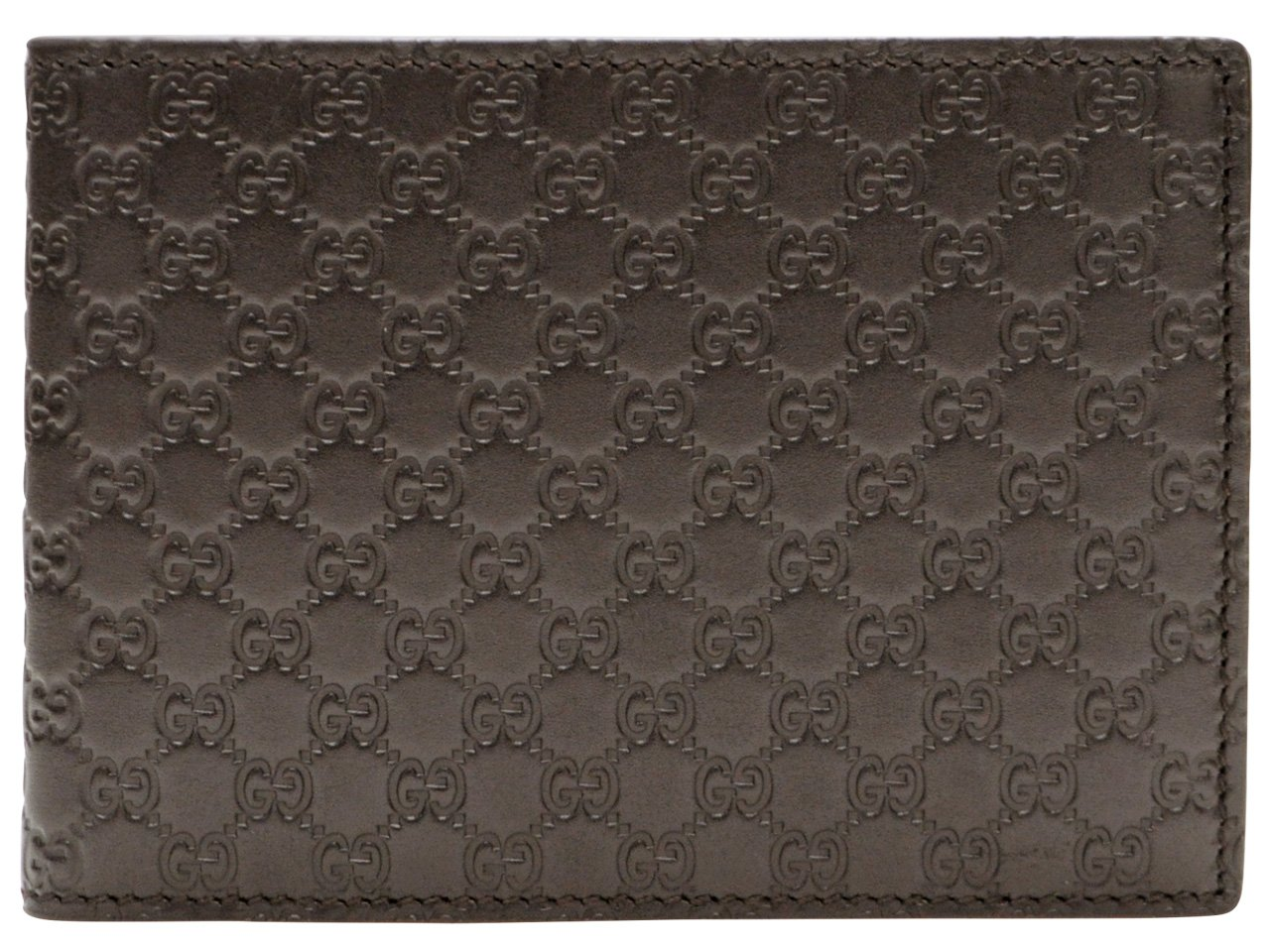 (グッチ) GUCCI 財布 二つ折り グッチシマ レザー メンズ 292534 アウトレット[並行輸入品] B01N1P9395 ダークブラウン ダークブラウン