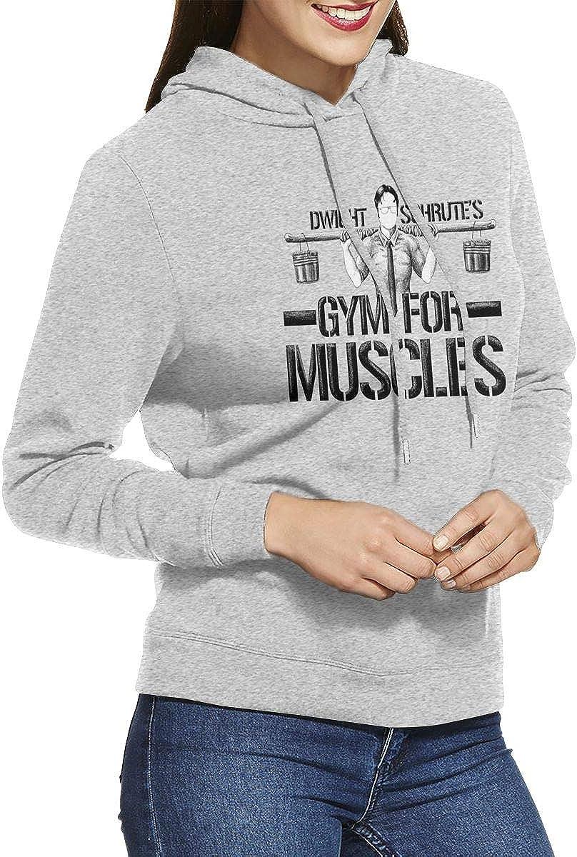 VIKIY K Dwight Schrutes Gym for Muscles Pocketless Womens Hoodies