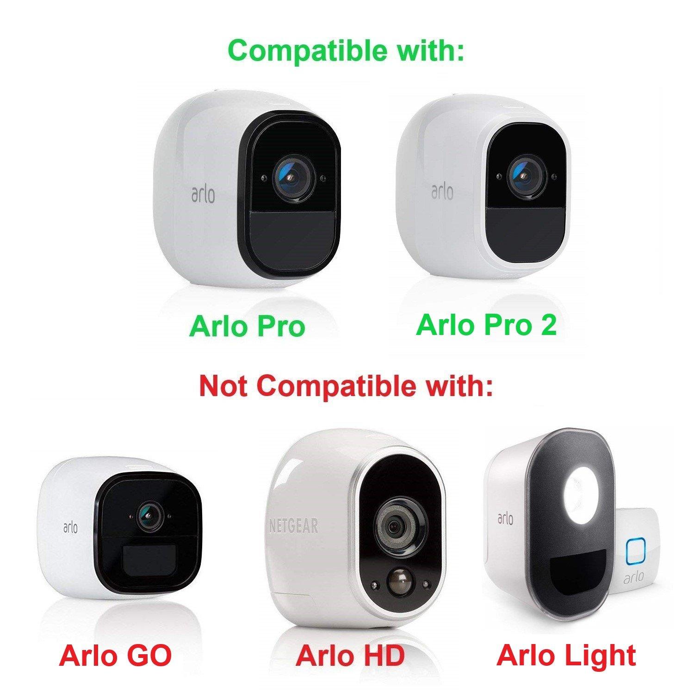 Anti-Diebstahl Sicherheitskette kompatibel mit Arlo Pro und Arlo Pro 2 Wetterfester Anti-Diebstahl sicherung Kragen 4 Packung