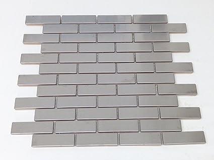 Amazon Silver Stainless Steel Metal 075 X 275 Mosiac Brick