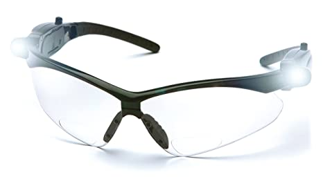 73ead99411a Image Unavailable. Image not available for. Color  Pyramex SB6310STPLEDR15  PMXTREME LED Readers Safety Glasses ...
