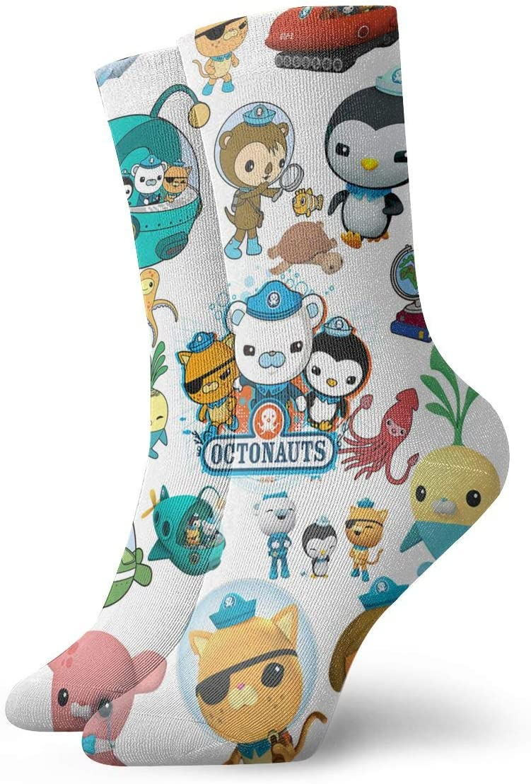The Octonauts Socks Full All Over Print Novelty Combed Cotton Crew Socks