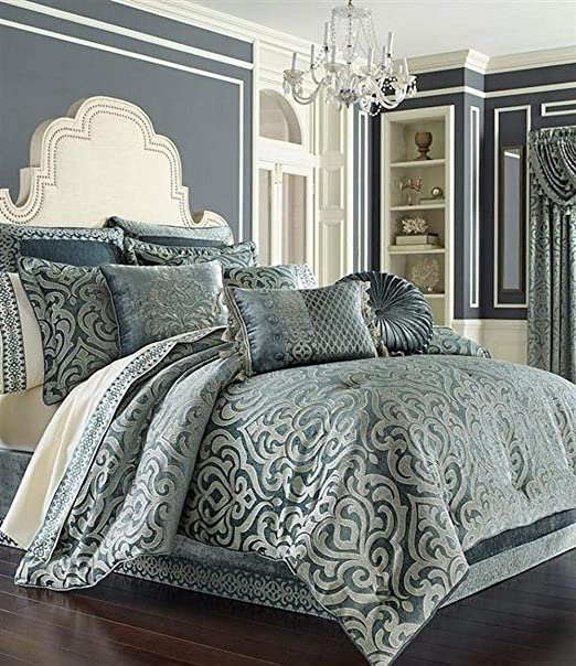 Amazon.com: J. Queen New York Sicily Teal Bedding Collection (King