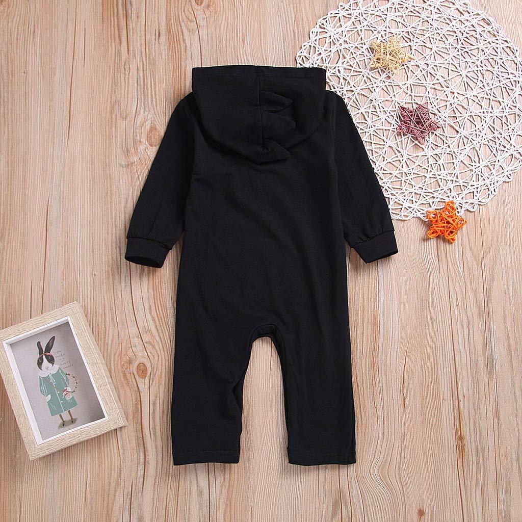 Kobay Babykleidung M/ädchen Neugeboren Unisex Kleinkind Neugeborenes Baby Langarm Cartoon Hooded Strampler Overall