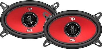 MTX Terminator46 40 Watt RMS 4 x 6 Inch 2 Way Polypropylene Coaxial Car Speakers