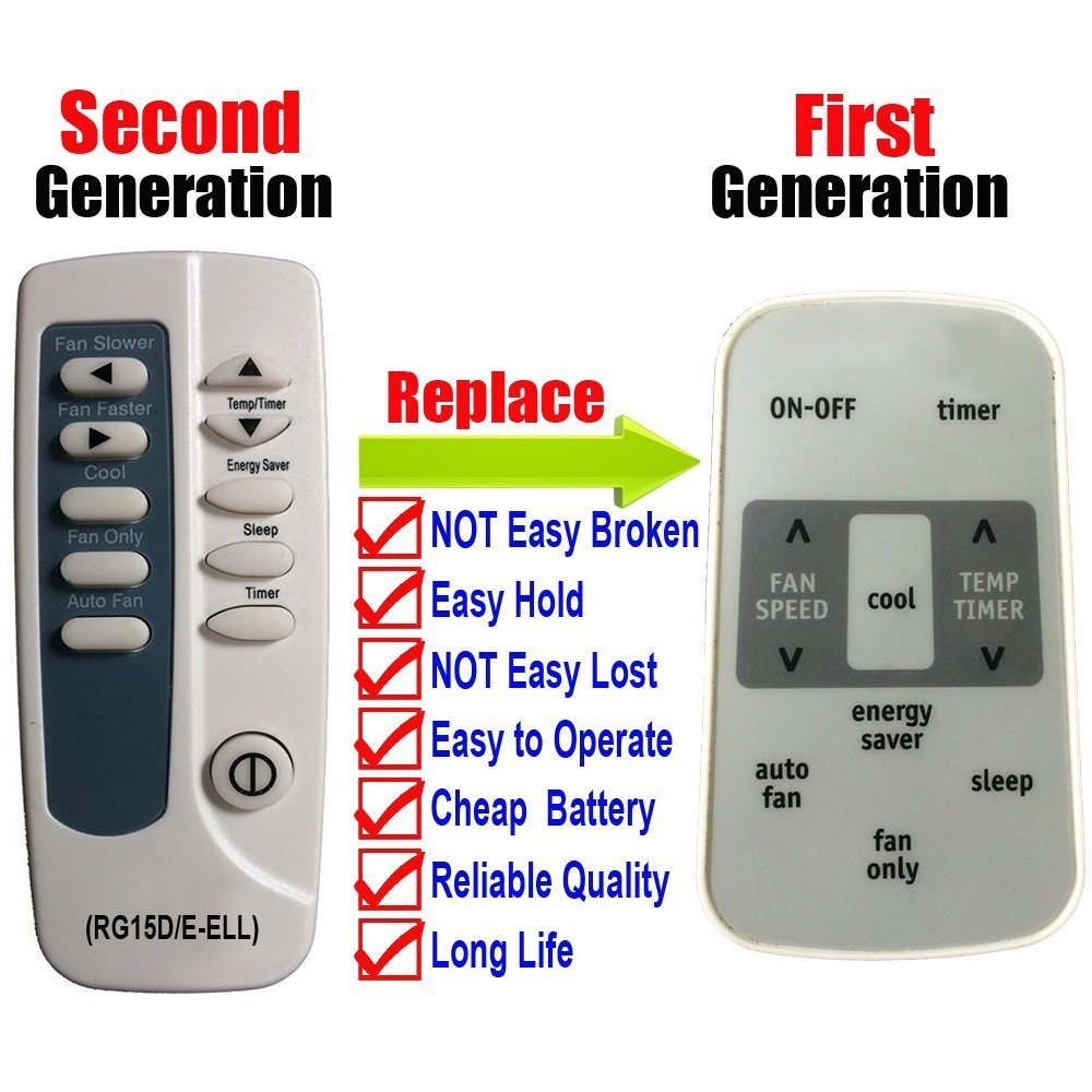 Second Generation For Frigidaire Air Conditioner Remote