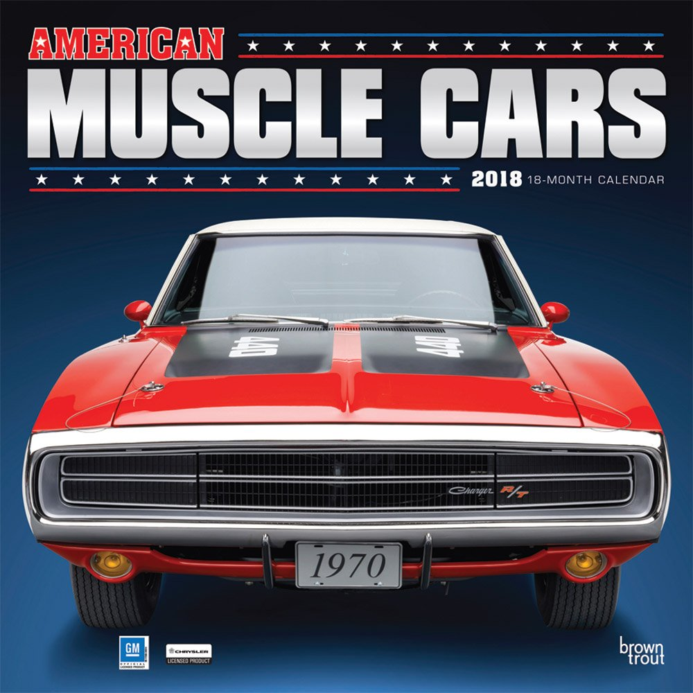 American Muscle Cars 2018 12 x 12 Inch Monthly Square Wall ...