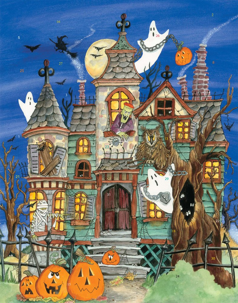 Haunted House Countdown to Halloween Calendar Vermont Christmas Company BB301