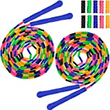 Coolrunner 16 FT Long Jump Rope(2 PACK), Double Dutch Jump Rope, Soft Beaded Skipping Rope for Kids Adults, Plastic Segmented