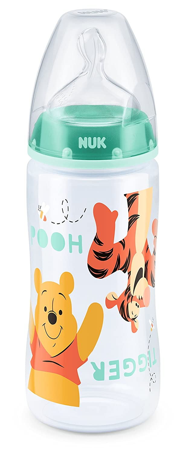 NUK First Choice /& 300ml Bottle with 0-6mths Silicone Teat 4 pieces