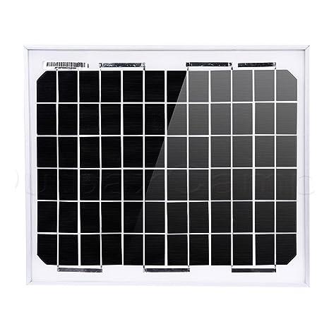 Amazon.com : NUZAMAS 10W 12V Solar Panel Aluminium Frame Battery ...