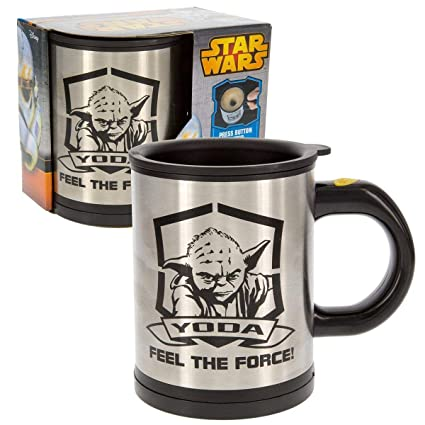 Force With Mug Stirring Star Mix Self The Travel Your Yoda 12 OzStainless Steel Wars Drink 7y6Ybfg